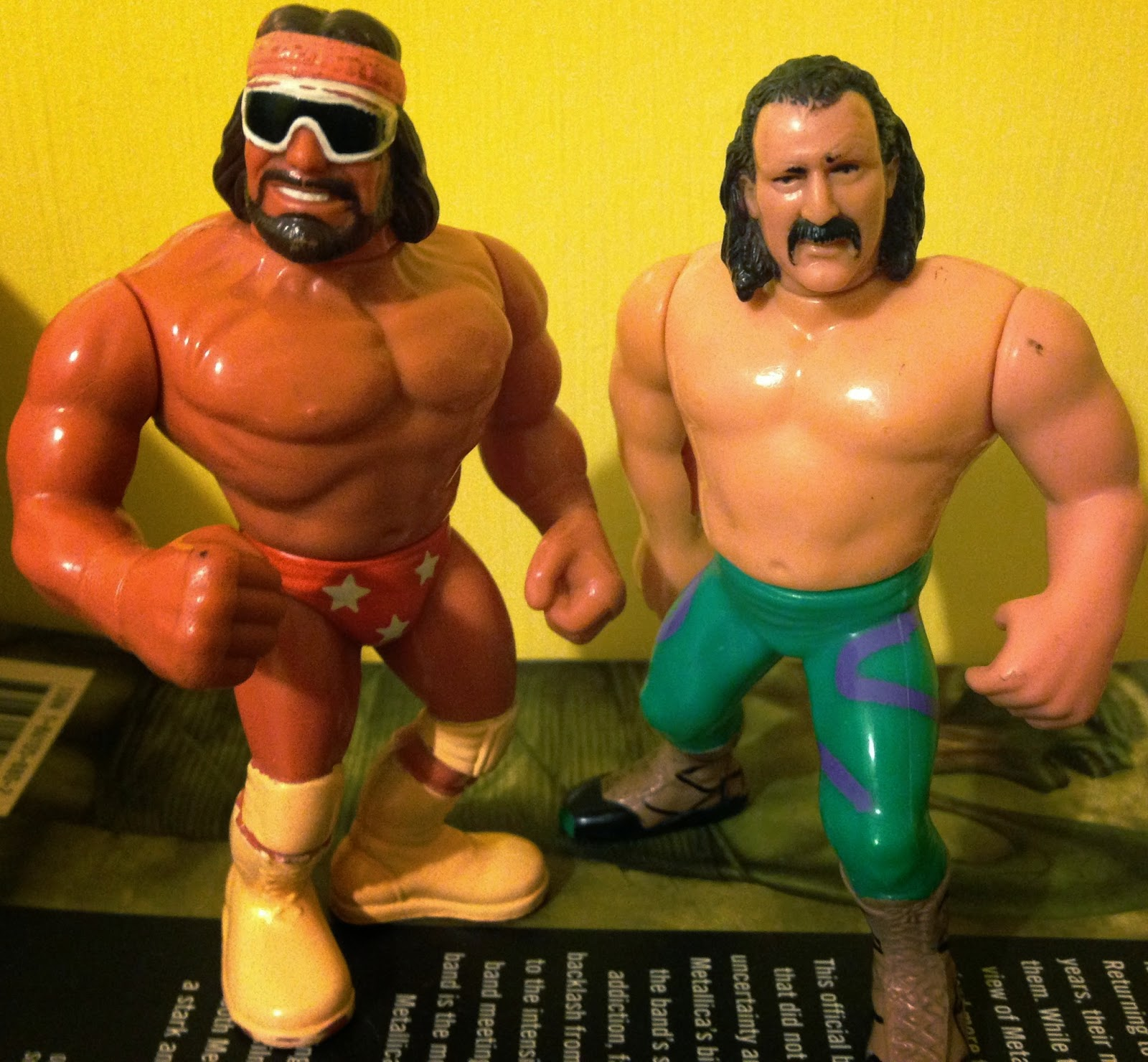 WWF / WWE - Hasbro Wrestling Figures - Macho Man Randy Savage vs.Jake 'The Snake' Roberts - This Tuesday in Texas
