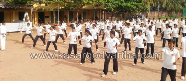 School, Karate, Practice-Camp, Girl, Minister Thiruvanchoor Radhakrishnan, Student, Childrens, Kasaragod, Kerala