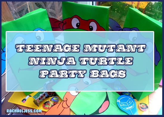 How to make teenage mutant ninja turtle party bags