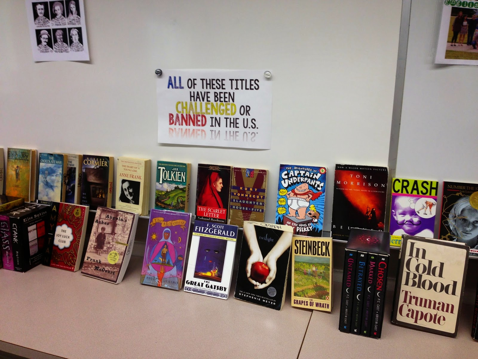 Banned Books from www.hungergameslessons.com (Photo Tracee Orman)
