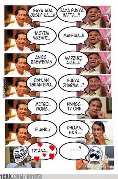 Meme Jokowi versus Prabowo