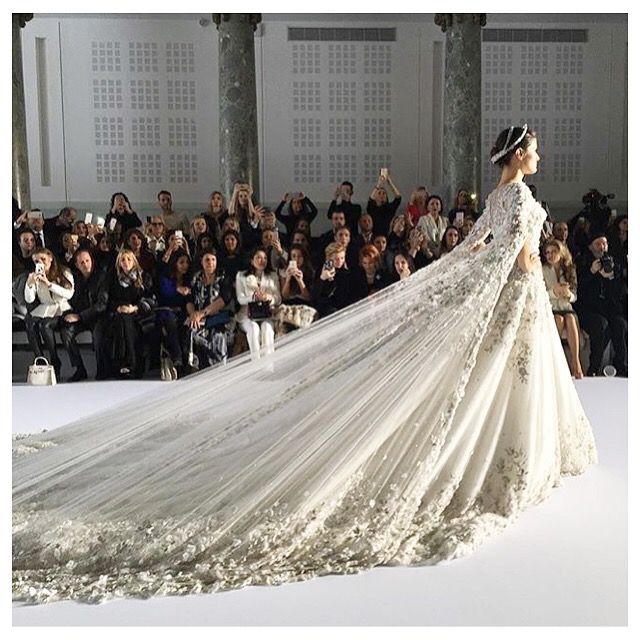 Photo of bridal gown from ralph and russo show