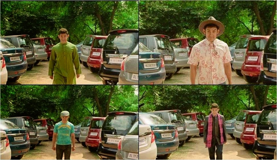 Various colorful dresses of Aamir Khan as PK in movie