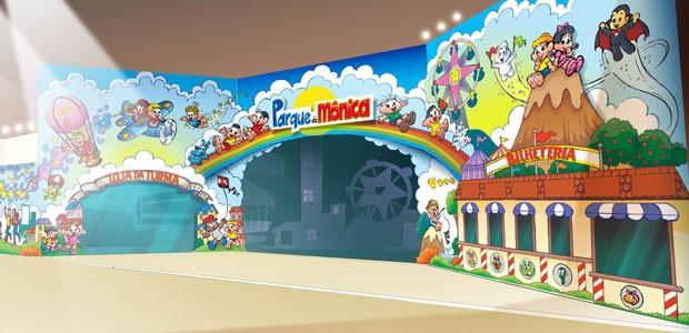 Atrações novo parque da Mônica entrada do parque