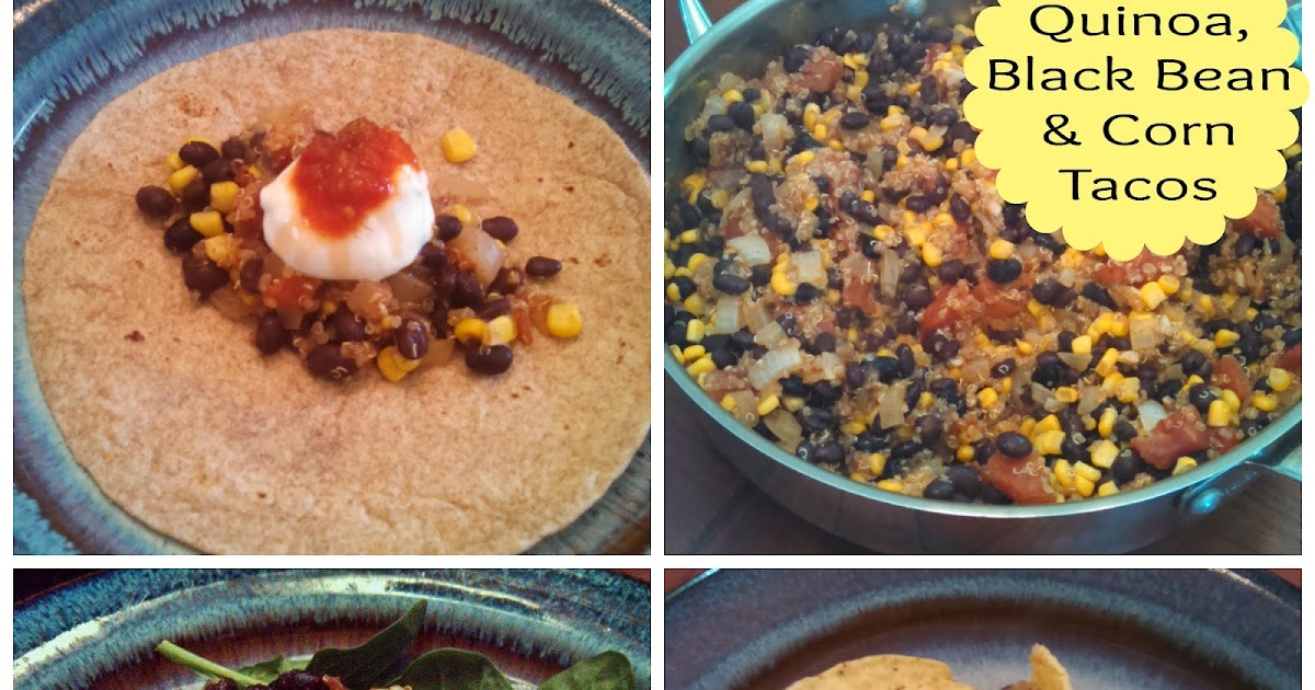 Quinoa, Black Bean and Corn Tacos | A Healthy Resolve