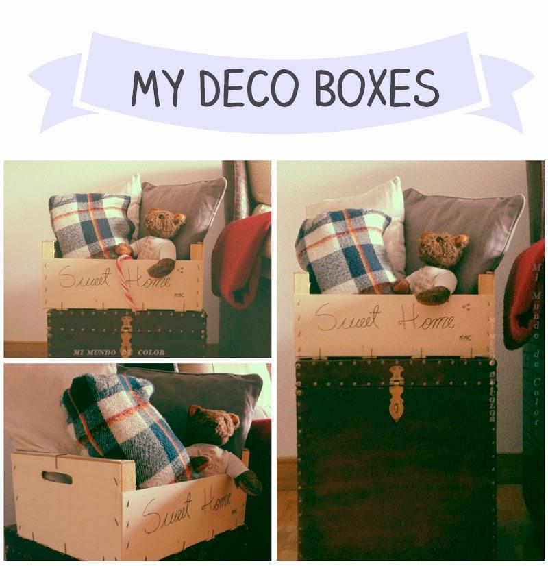 decorar con cajas de madera en el hogar