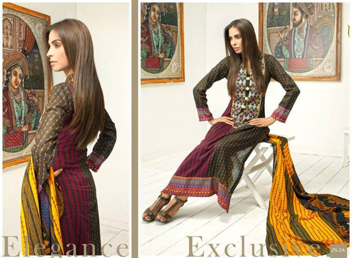 Pehnawa+Eid+Dress+Latest+Collection+by+ZS+Textiles+(7) Latest Pehnawa Eid Dresses by ZS Textiles