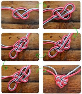 membuat Hati dengan knots