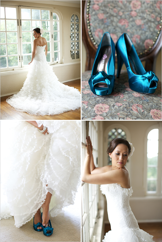 ¿Os atrevéis con unos zapatos azules para el día de vuestra boda?