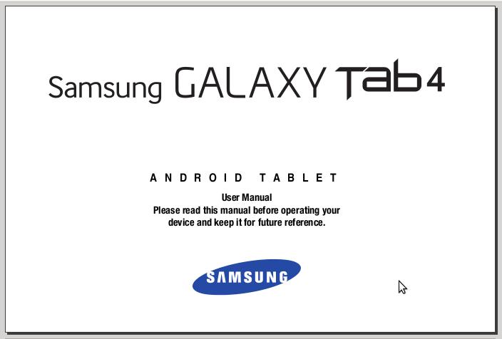 Samsung Galaxy Tab 4 7.0 SM-T230 Manual