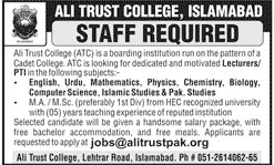 Teachers Jobs in Ali Trust College Islamabad
