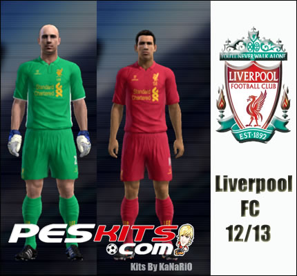 PES 2012 Liverpool FC 2012/13 Kits by Kanario