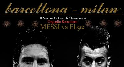 Wallpaper AC Milan vs Barcelona UEFA Liga Champions