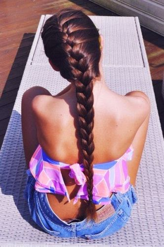 Simple basic french braid hairstyles