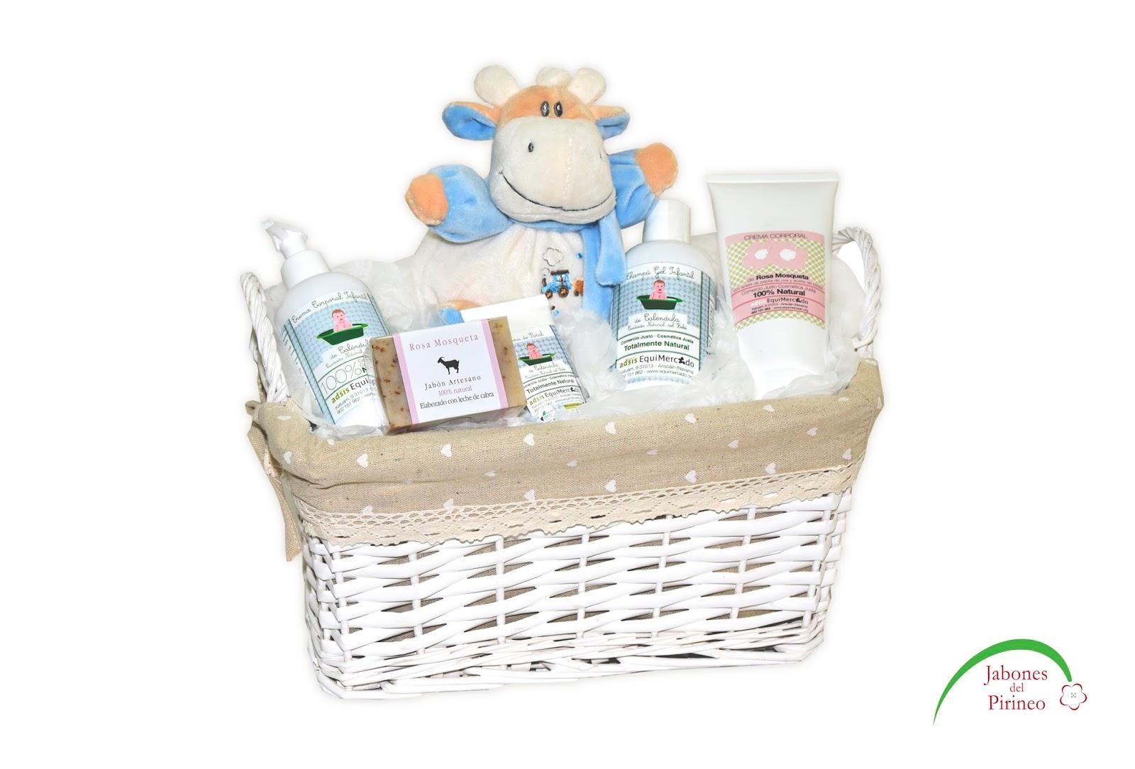 Jabones del pirineo cestas para regalo - Cestas de mimbre para bebes ...