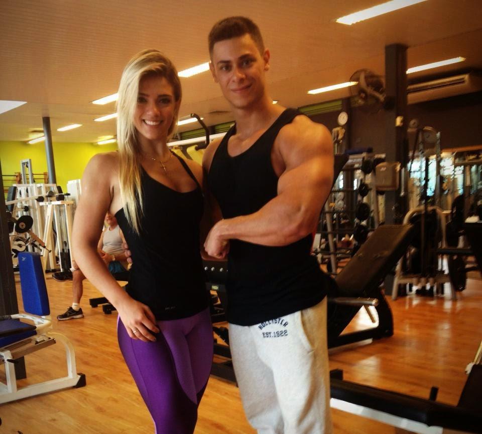 Léo Stronda e Roberta Zúñiga eram parceiros de treino. Foto: Arquivo pessoal