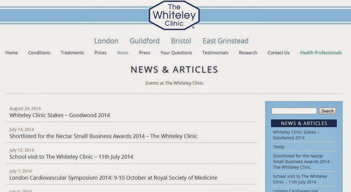 http://www.thewhiteleyclinic.co.uk/category/whiteleyclinicnews/