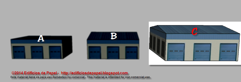 C Building of the Port Warehouse paper model