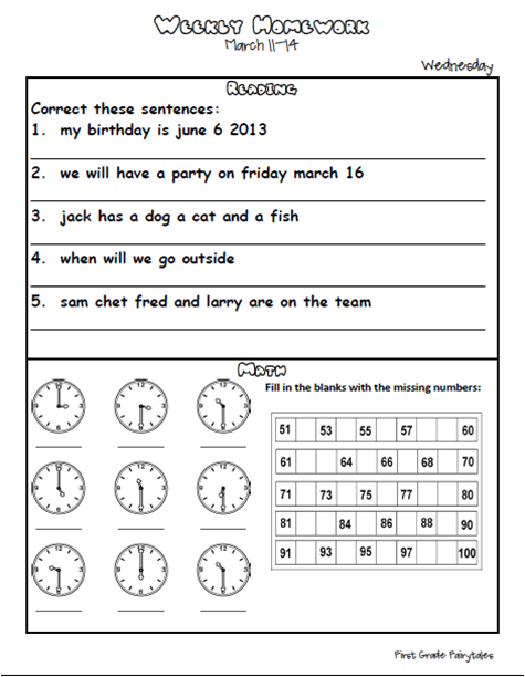 It's just a graphic of Dynamic First Grade Homework Packets Printable