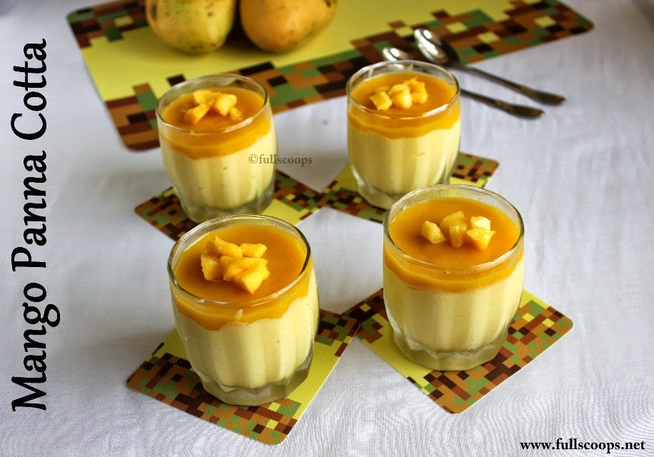Mango Panna Cotta ~ Full Scoops