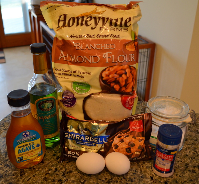 Chocolate chip scone ingredients using almond flour