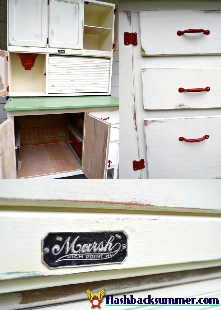 Hoosier Kitchen Cabinet A Hoosier Cabinet Makeover Flashback Summer