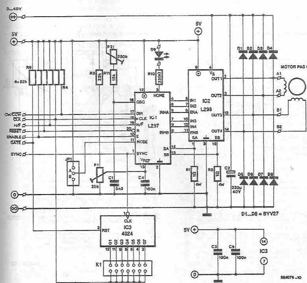 Stepper Motor Driver Circuit Diagram Simple Schematic