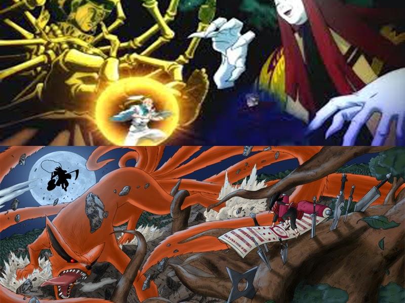 Netero-Jed (HunterxHunter) dan Hashirama-Madara (Naruto)