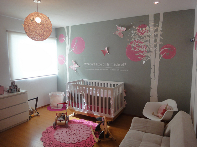 Custom Nursery Art by Kimberly: Modern Baby Girl Nursery Ideas