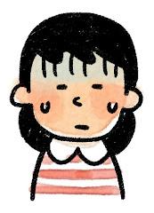 女の子の表情のイラスト(困る)