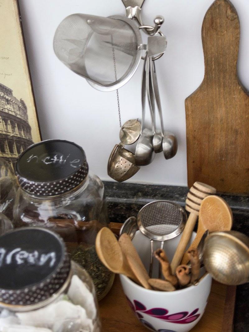organized tea station