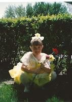 Kelly Jensen as a young ballerina