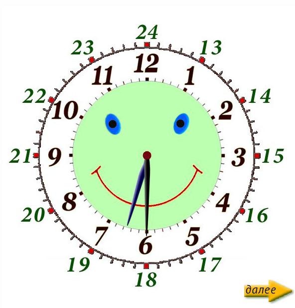 Научить ребенка определять время по часам игра