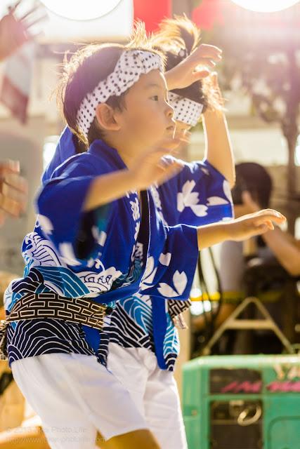 三鷹阿波踊り、三鷹商工連の子供踊り