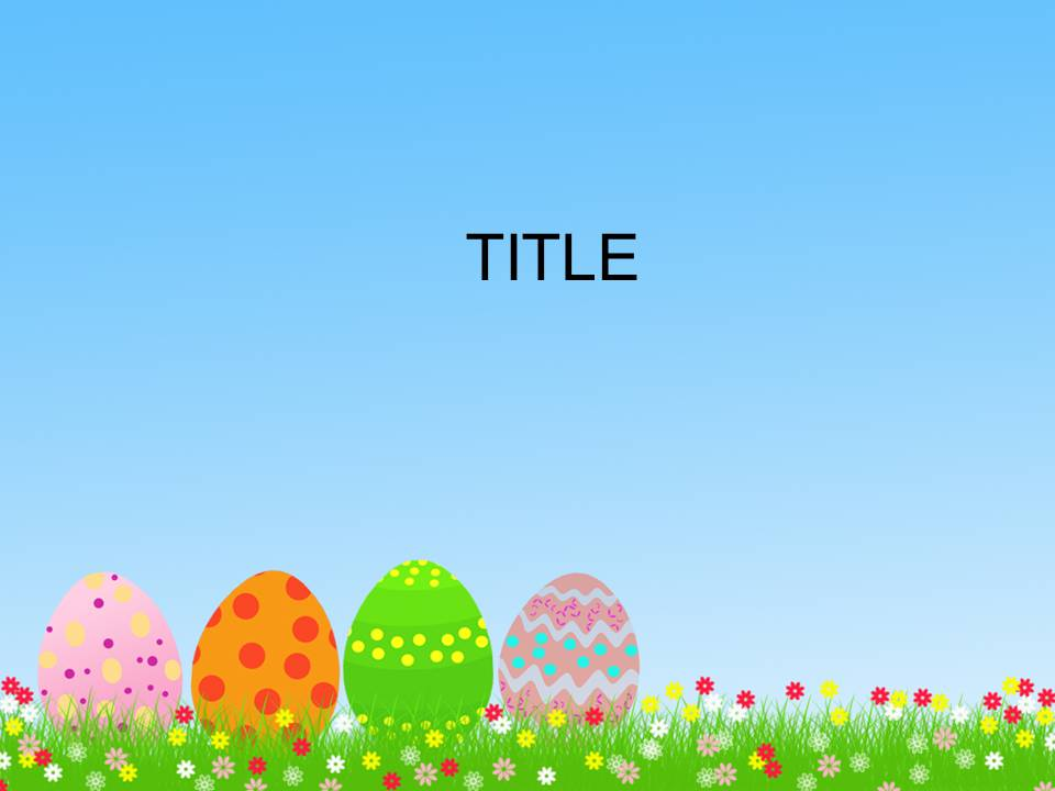 Free Download Easter PowerPoint Templates - Everything ...
