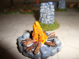Stone Line Campfire Painted