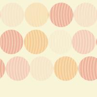Fondo con lunares de colores naranja y rosa