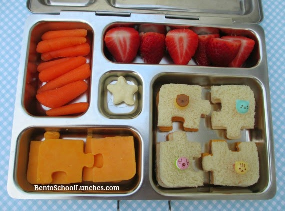 Puzzle bento school lunch, planetbox