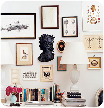 Beano 39 s baubles eclectic frame collage wall - Eclectic picture frame wall ...