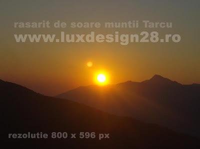 Rasaritul soarelui la peste 2000 m altitudine / ora 6:50