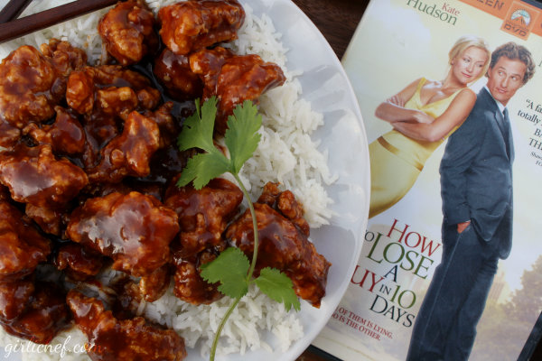 girlichef: General Tso's Chicken ...inspired by How to Lose a Guy in 10 Days {food 'n flix}