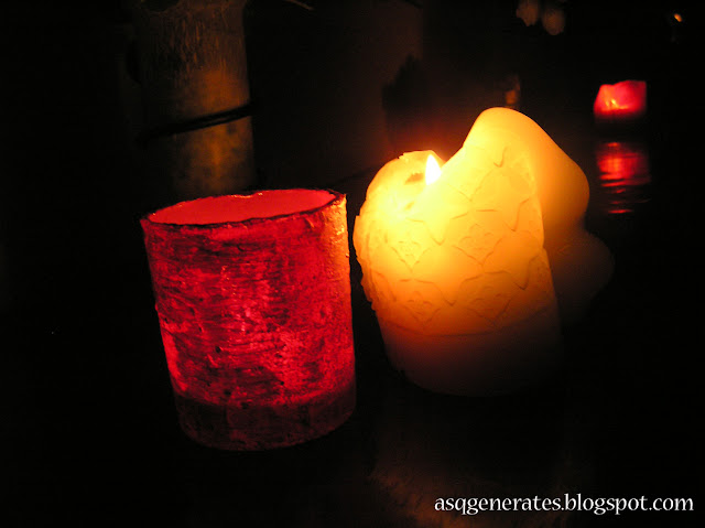 DIY Candle Jar : Jar On FIRE in the dark with candle light up inside