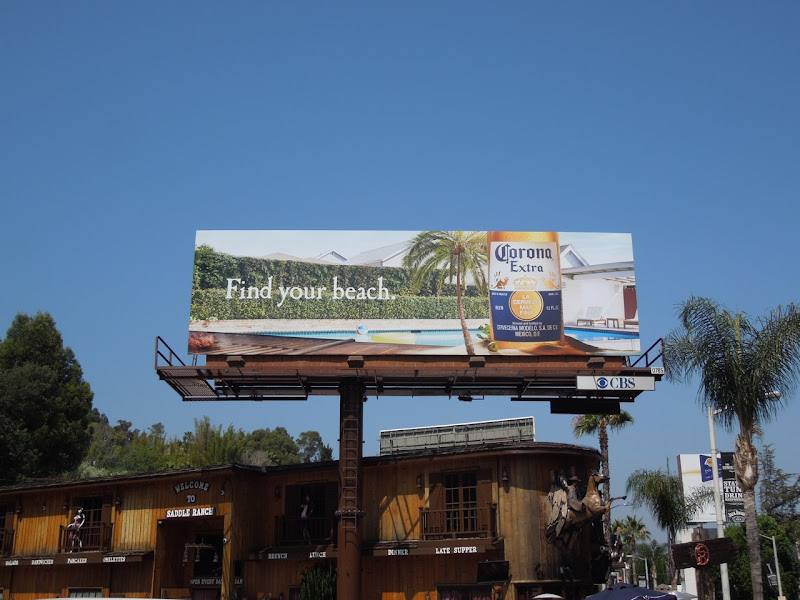 Corona Extra Find your beach billboard 2012