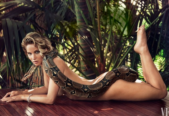 Jennifer Lawrence Gets Naked For Vanity Fair