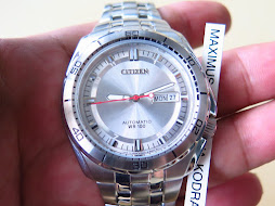 CITIZEN SILVER DIAL WR 100 - AUTOMATIC