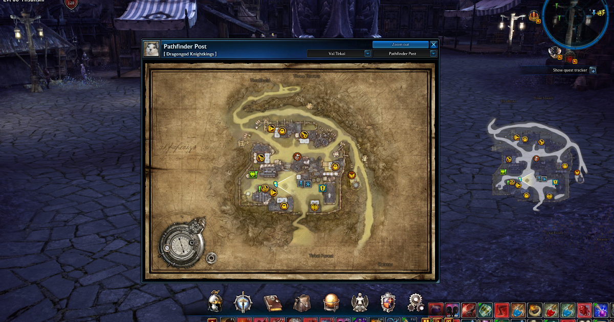 Tera Online Guides: Tera Online Map Interface on