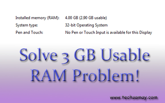 3 GB usable RAM problem