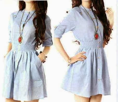 Blouse Denim Jeans Chambray