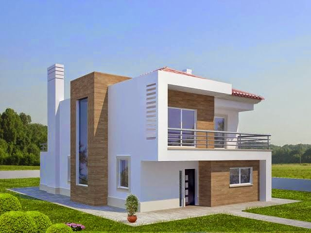 Construindo minha casa clean pedras decorativas for Casa moderna baratas
