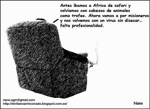 el villano arrinconado, chistes, humor, satira, ebola